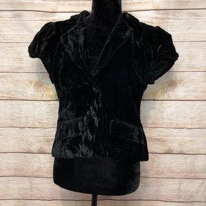 Metro 7 Velveteen Short Sleeve Embroidered Jacket